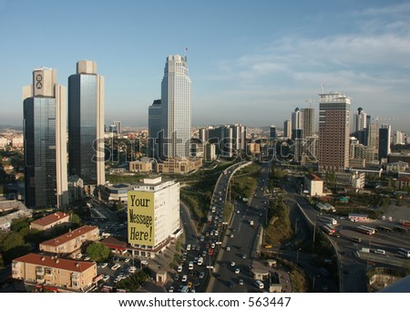 Business city center - stock photo