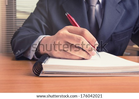 Business close up of working process  - stock photo