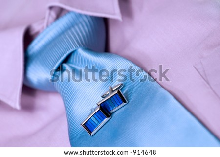 business clothes. focus on cufflinks. - stock photo