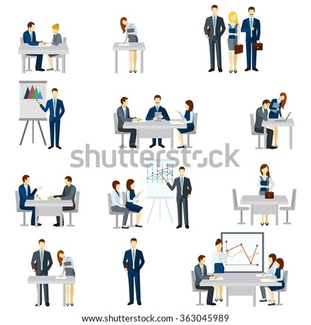 Business Coaching Icons Set  - stock photo