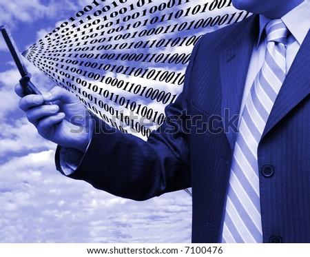 Business code in progress - stock photo