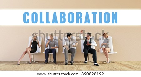 Business Collaboration Being Discussed in a Group Meeting - stock photo