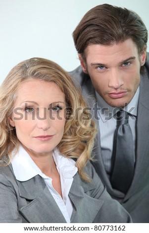 business collaborators - stock photo