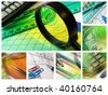 Business collage about reporting and accounting. - stock photo