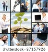 Business collage made of many business pictures - stock photo