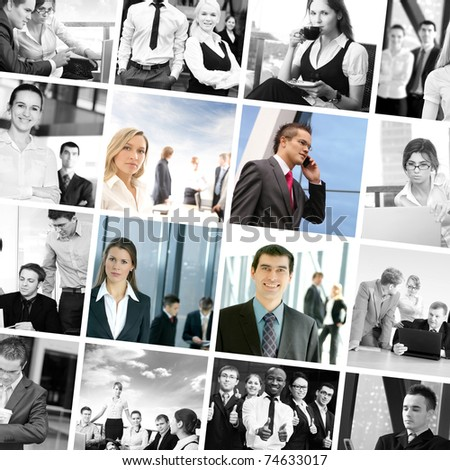 Business collage made of some pictures