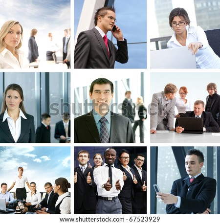 Business collage of some different images - stock photo