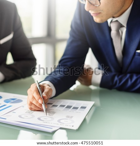 Business Colleagues Meeting Paperwork Concept
