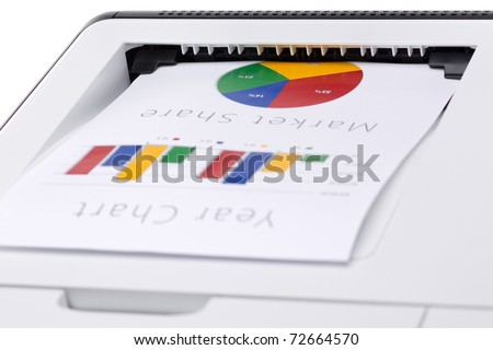 Business color chart printed on laser printer - stock photo