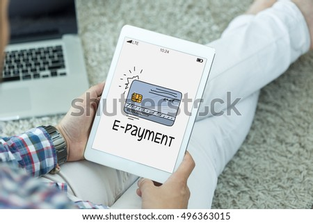 BUSINESS COMMERCE SHOPPING INTERNET E-PAYMENT CONCEPT