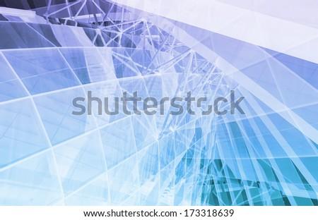 Business Communication as a Conceptual Tech Art - stock photo
