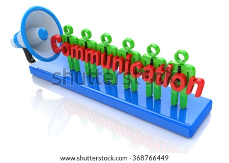 Business communication in the design of business-related information and communications - stock photo