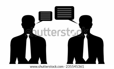 Business Communication. Two speaking mens   - stock photo