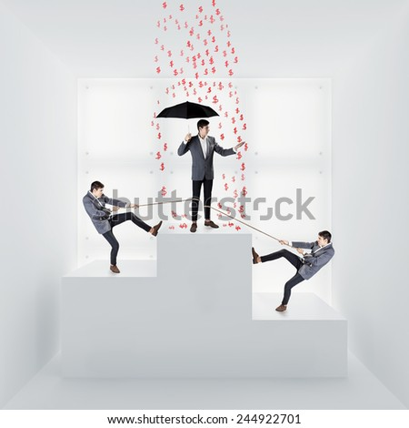Business competition concept - stock photo