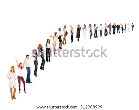 Business Compilation People Order  - stock photo