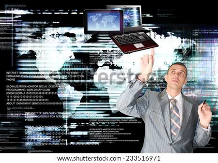 Business.Computer technology - stock photo