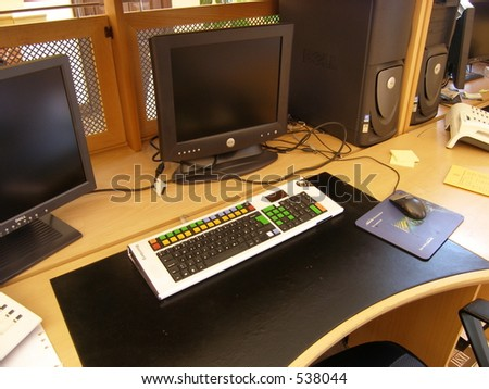 Business computers - stock photo