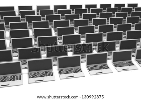 Business Computers Technology Abstract on a White Background - stock photo