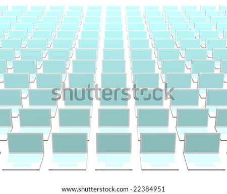 Business Computers Technology Abstract on a White Background