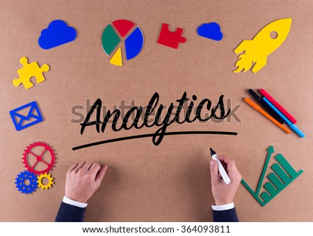 Business Concept-Analytics word with colorful icons