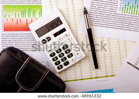 Business concept, bank statement - stock photo