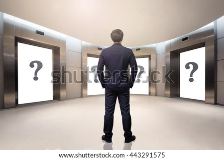 business concept,business man  choosing the right choice - stock photo