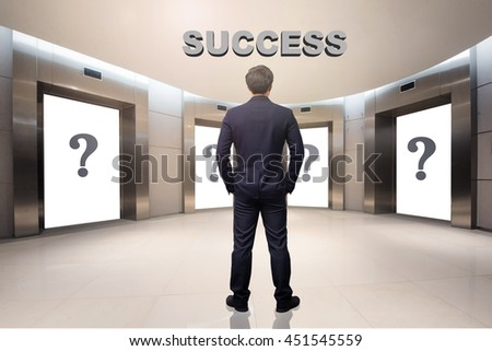 business concept,business man choosing the right choice,success concept - stock photo