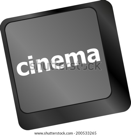 Business concept: Cinema key on the computer keyboard - stock photo