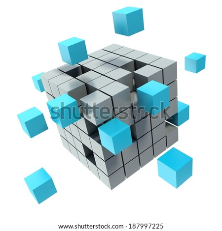 Business concept cube - stock photo