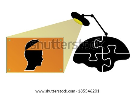 Business concept design with brain and open mind, creative design. - stock photo
