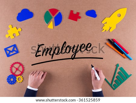 Business Concept-EMPLOYEE word with colorful icons - stock photo