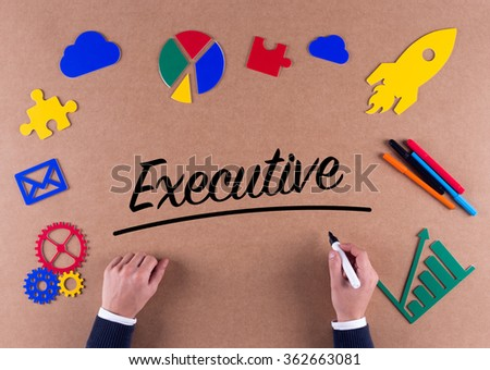 Business Concept-Executive word with colorful icons