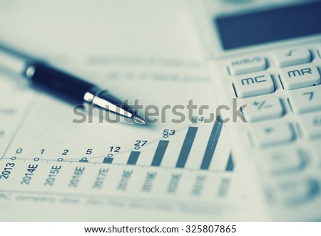 business concept:financial accounting analysis