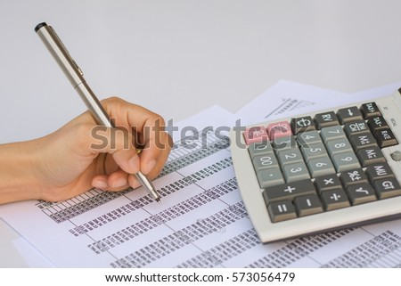 Business concept : Financial accounting stock market graphs analysis.