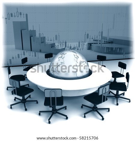Business concept, Financial conference. 3d render - stock photo