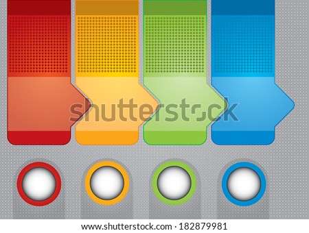Business concept - flow chart with arrows - stock photo