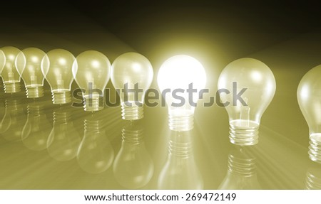 Business Concept for Success as Growth Chart Bulb - stock photo