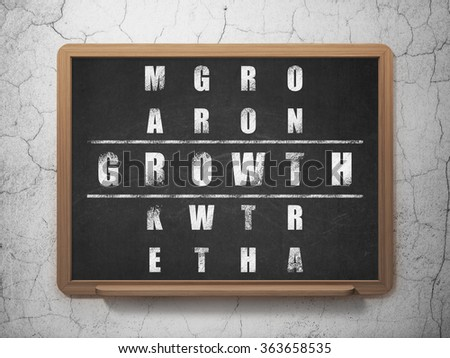 Business concept: Growth in Crossword Puzzle - stock photo
