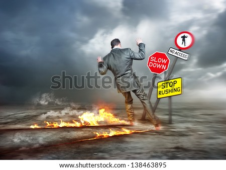 Business concept - Hurry Up and Slow Down - stock photo