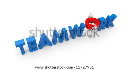 Business concept isolated on white - stock photo