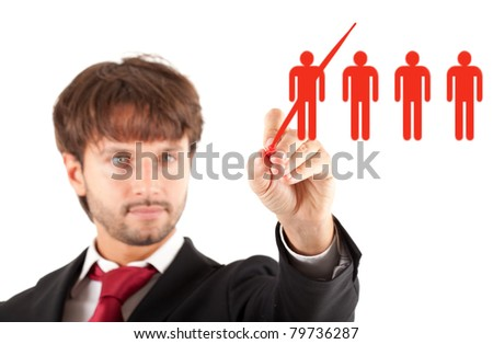 Business concept: manager firing a worker - stock photo