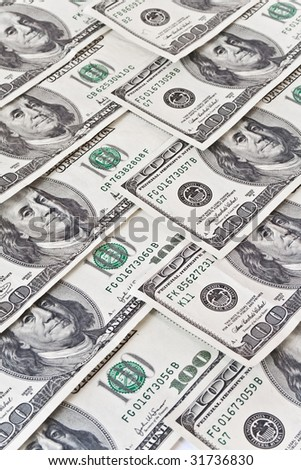 business concept. money background from dollars usa