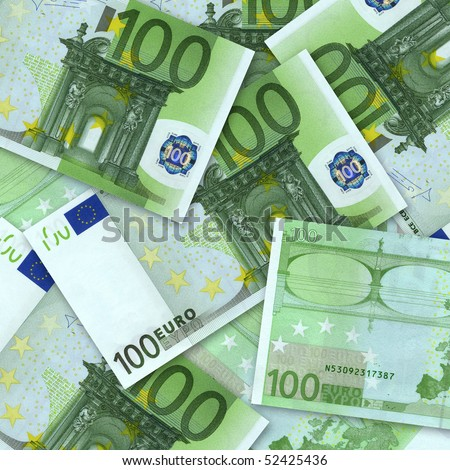 business concept. money background from euro banknotes - stock photo