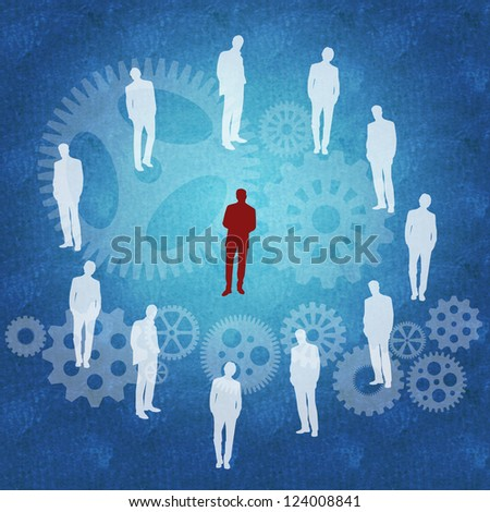 Business concept of being different | standing out from the crowd - stock photo