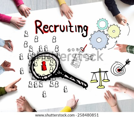 Business concept of Recruitment - stock photo
