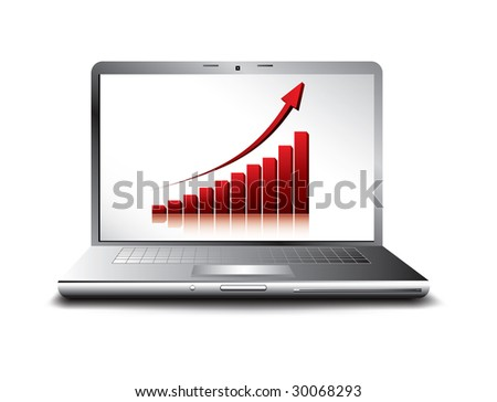 business concept of rising economy - stock photo