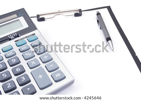 Business concept, office tools - stock photo