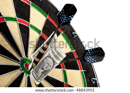 business concept on dartboard