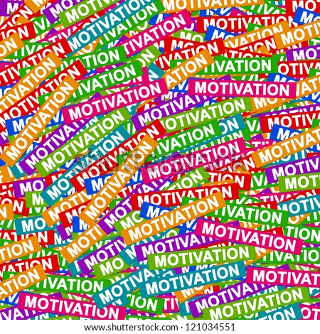 Business Concept Present By Group of Colorful Motivation Label Background