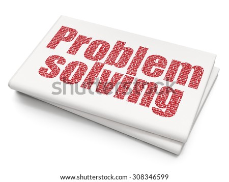 Business concept: Problem Solving on Blank Newspaper background - stock photo